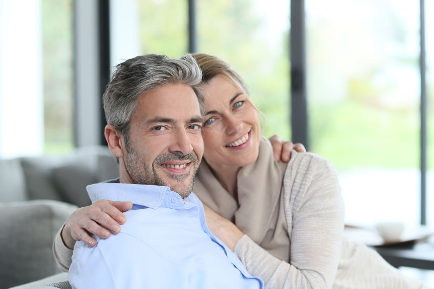 38396772 - portrait of mature couple relaxing at home